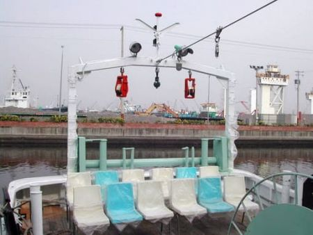 Sprzęt wędkarski na tylnym pokładzie