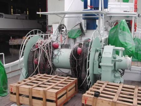 80GT FRP Multifunction Fishery Trial Boat Netting machine