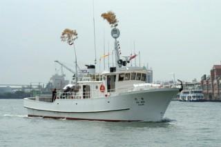 80GT FRP Multifuncional Fishery Boat Trial
