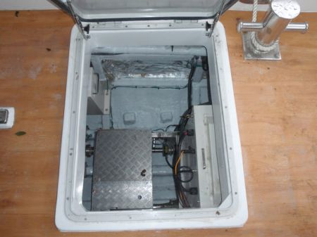 7GT Eco Ship-solar Powered Patrol Boat Rudder compartment entrance