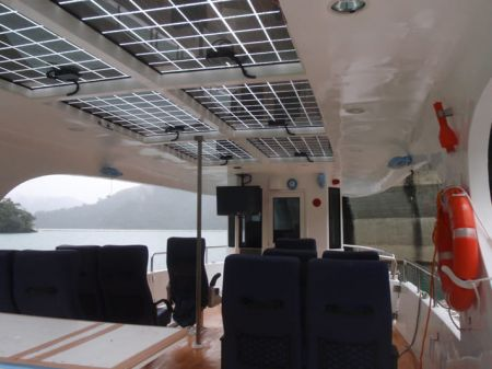 7GT Eco Ship-solar Powered Patrol Boat Cabin with solar panels