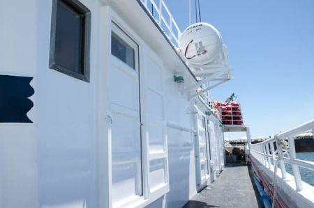 100 GT Tuna Long Liner Boat Main deck passageway