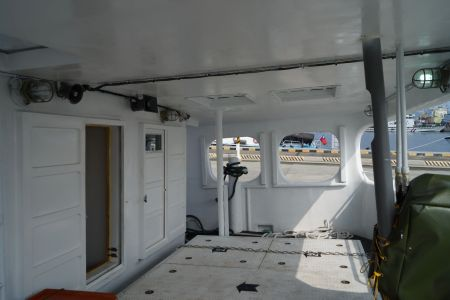 140 GT Tuna Long Liner Boat Aft deck layout