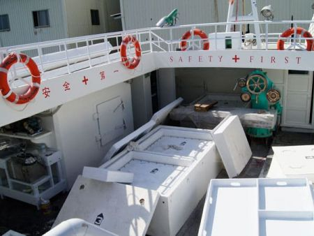 230GT Tuna Long Liner Boat main deck