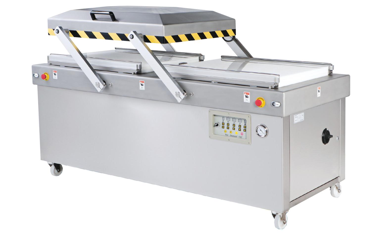 Máquina automática de embalagem a vácuo de camaras duplas para servi?os pesados