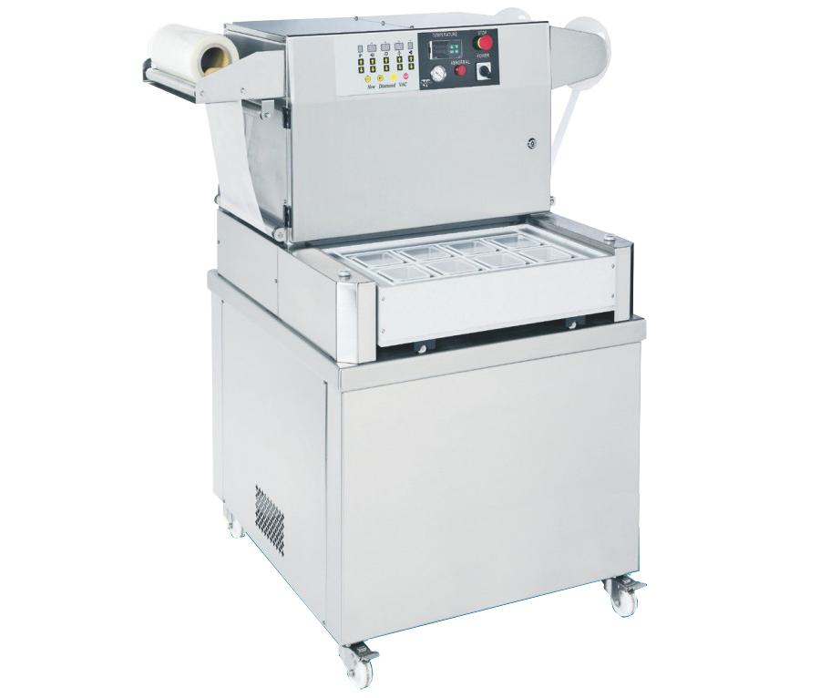 Полуавтоматический запайщик лотков с вакуумной и газовой промывкой / Skin Pack