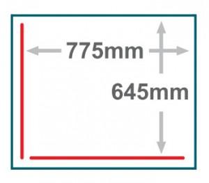 框 : 真空槽,紅線 : 封口線