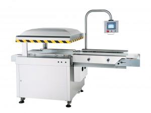 Автоматическая линейная вакуумная упаковочная машина с конвейерной лентой