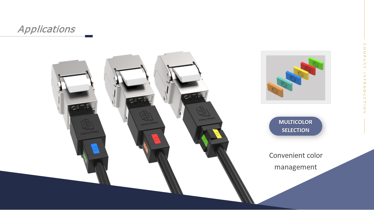 Network Patch cord color management by clips
