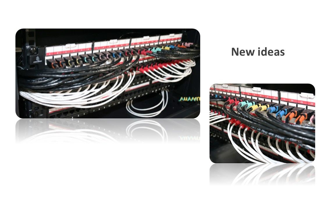 CRXCONEC patch cord usually combined with patch panel served in the data center. When our patch cord with patch panel put in the rack cabinet, CRXCONEC patch cord is much easier to identify.