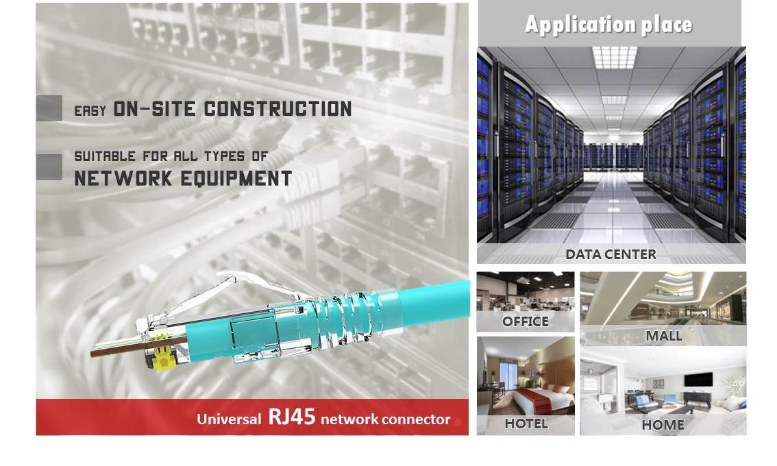 RJ45 Connector can be use in many in-door and out-door places, such as living house, data center, office, hotel. Usually, it depends on the inside-wall's category, CRXCONEC can provide the most professional services and solutions for you.