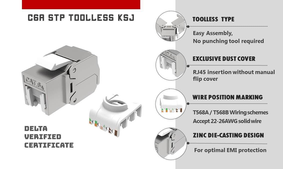 Category 6a Stp Ethernet Keystone Jack Tool Free Solutions Crxconec Company Ltd