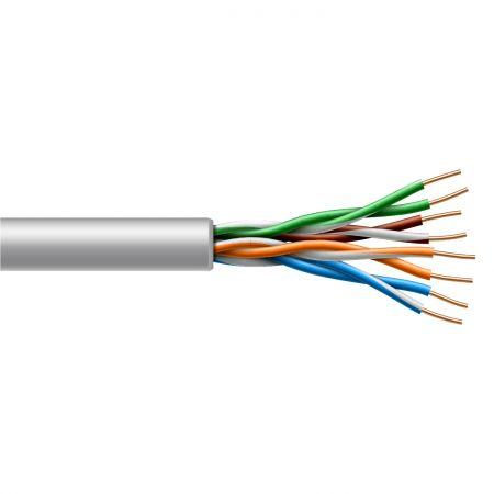 Bükümlü Çift Kategori 6 UTP İç Mekan Katı Kablo
