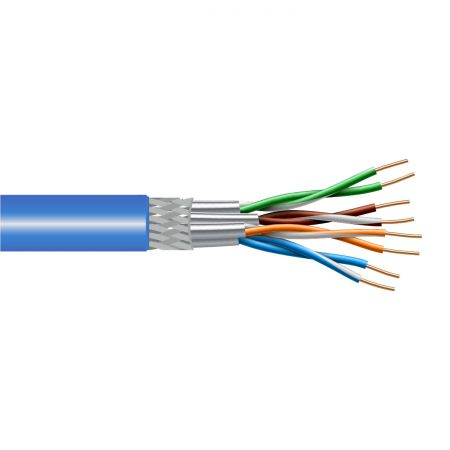 Cat6A 500MHz Toplu bükümlü çift katı Kablo
