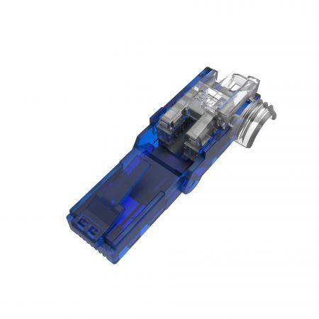 POE+ Cat.6 Rotatable Tool-less 8p8c RJ45 Termination Plug