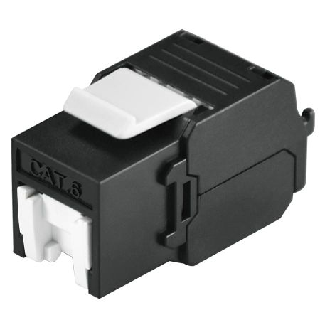 Shuttered CAT 6 UTP Tool Free Keystone RJ 45 Jack - category 6 UTP RJ45 Keystone jack with shutter