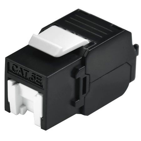 180° CAT 5E UTP Ethernet Keystone Module Butterfly Style - category 5E UTP RJ45 Keystone jack with shutter