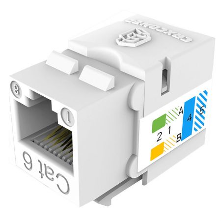 UL listed CAT6 Punch Down UTP Keystone Jack - Cat.6 UTP 110 Punch Down Keystone Jack