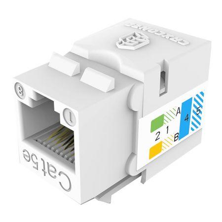 Prise modulaire de données de type 110 UTP non blindée CAT5E à 90 degrés - Cat.5E UTP 110 Punch Down Keystone Jack