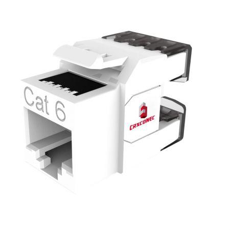 CAT6 niet-afgeschermde 180 graden RJ45 Keystone-aansluiting - Cat.6 UTP Keystone-aansluiting