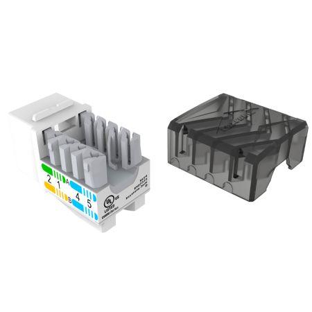 ETL-geverifieerde componentniveau 90 graden categorie 6 niet-afgeschermde keystone-aansluiting - Cat.6 UTP Punch Down RJ45 Keystone-aansluiting