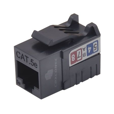 Cat.5e punch down ethernet network keystone jack - UTP 90 degree keystone jack