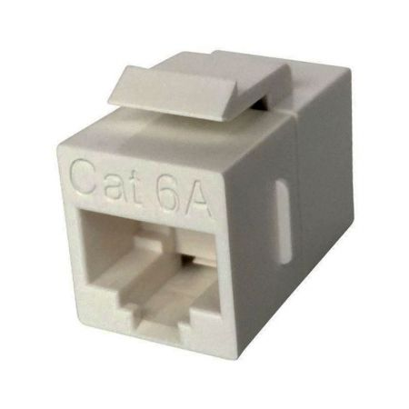 Category 6A UTP 180 degree Inline RJ45 coupler - CAT.6A UTP 180° In-line Coupler