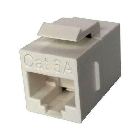Coupleur RJ45 en ligne UTP 180 degrés de catégorie 6A - Coupleur en ligne CAT.6A UTP 180°