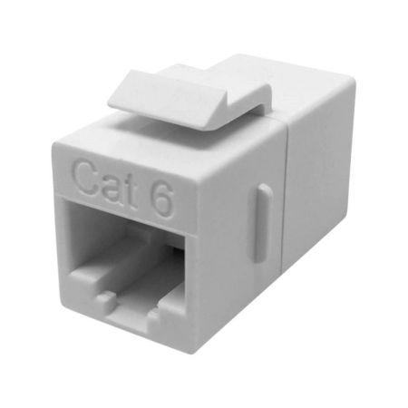 CAT6 Unshielded RJ45 In-Line Coupler - UTP 180 degree c6 In-line Coupler