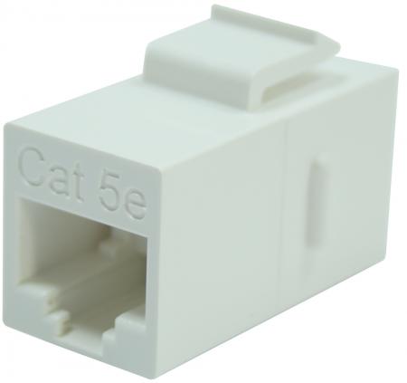 CAT5E UTP 180 degree In-line Coupler