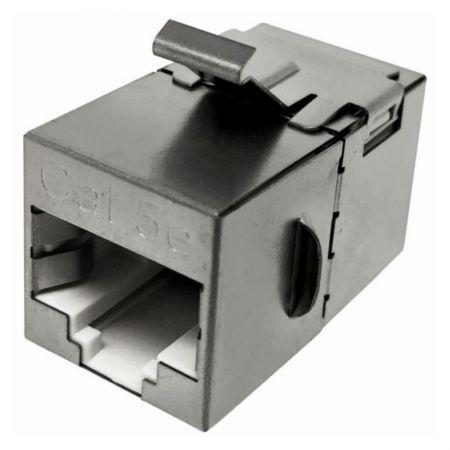 Categorie 5E STP 180 graden kabelverlenger - STP 180 graden C5E RJ45-kabelverlengadapter