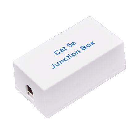 CAT5E UTP 180° Junction Box - FTP C5E punch down coupler