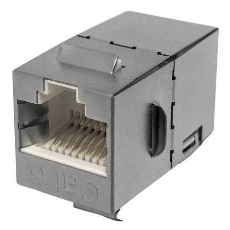 Category 6 FTP RJ45 Cable Extender - CAT.6 STP 180° Feed-through in-line Coupler