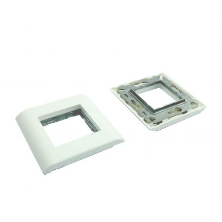 French Style Gang Frame module plate For Insert Module - French Style Faceplate