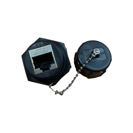IP68 Kategori 6 STP Industrial Bulkhead Coupler - Coupler Sekat Industri STP Cat.6