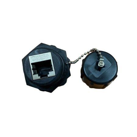 IP68 Category 5E STP Waterproof 180 degree RJ45 Inline Coupler - Cat.5E STP waterproof RJ45 inline Coupler