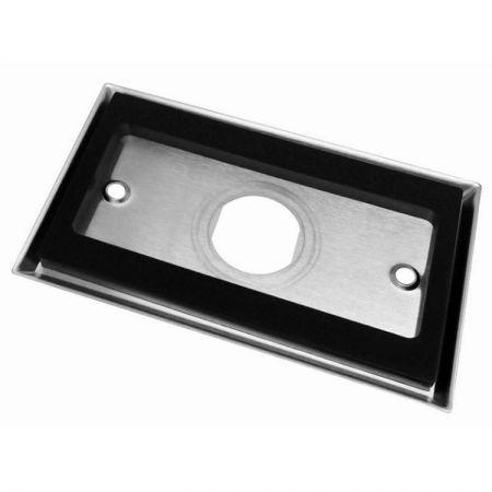 Single gang faceplate 1 portstainless steel