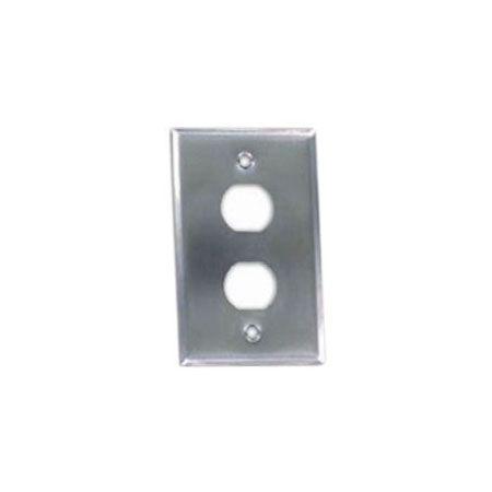 IP44 Endüstriyel Ön Plaka 2 Bağlantı Noktası - IP44 Ön Plaka 2 Bağlantı Noktası