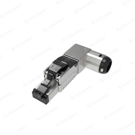 PoE Type III Cat.8 Five Angled STP Tool-less RJ45 8p8c Termination Plug - Cat.8 STP Shielded Five Angles Termination Plug