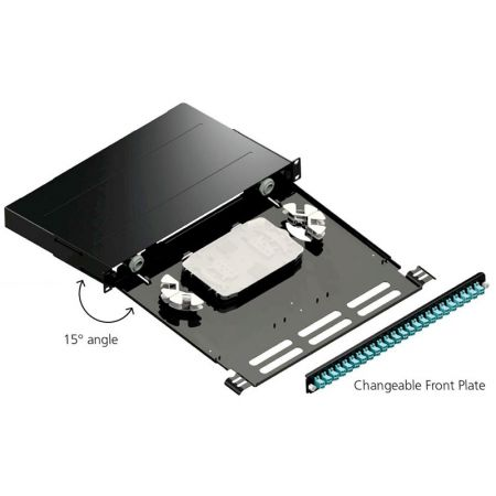 Fiber Optic Patch Panel with Changeable Front Plate - Fiber Optic Panel