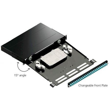 Glasvezel patchpaneel met verwisselbare frontplaat - Glasvezelpaneel