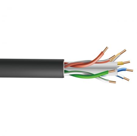 Kabel UTP Cat6 CMX Luar Ruangan 23AWG - Kabel luar UTP Cat.6 dengan pengisi silang