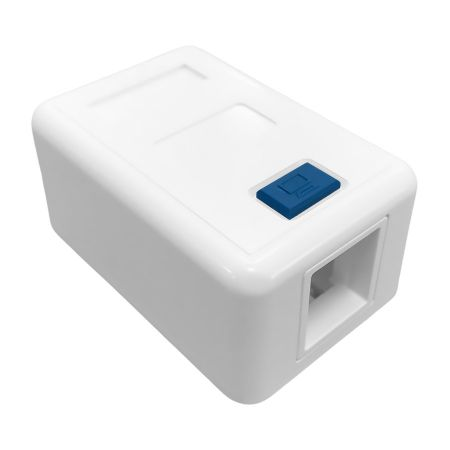 Network RJ45 Single Gang Surface Mount Box with ICON - blank 1 Port Surface Mounted Box
