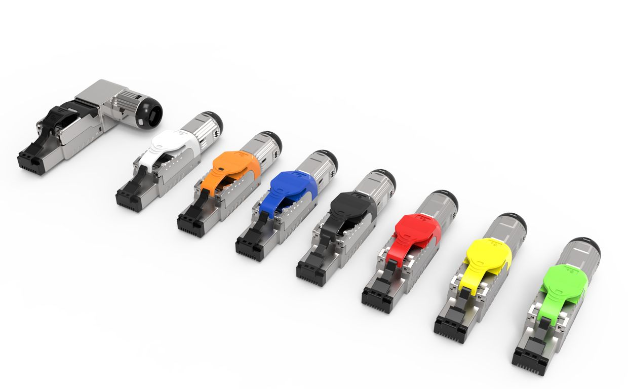 CRXCONEC Cat.6A Toolless RJ45 Plug provides 7 types of latch color