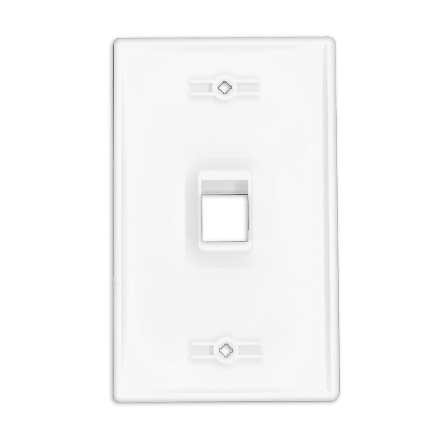 US style RJ45 keystone Outlet Cover Plates 1 Port