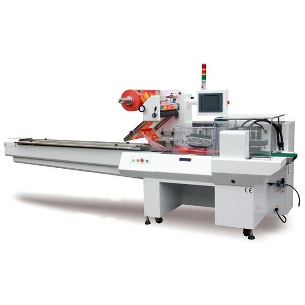 Machine d'emballage à flux - Box Motion - Enrubanneuse à flux servo - Machine d'emballage à débit servo