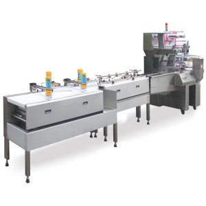 Packaging Line -Wrapper + Smart Belt Auto Feeding + Aligning System - Wrapper + Smart Belt Auto Feeding + Aligning System