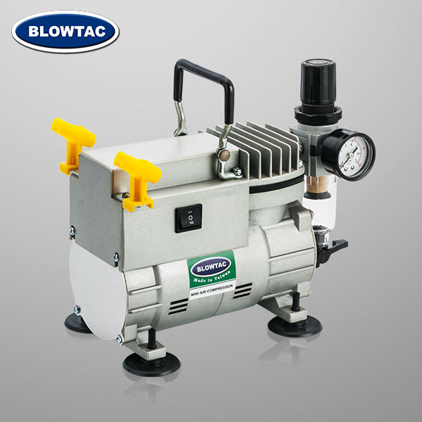 Single Cylinder Mini Air Compressor with Airbrush Holder