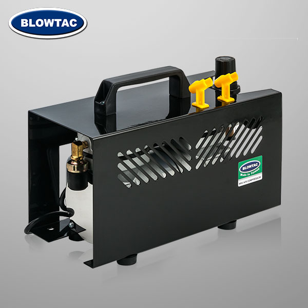 Double cylinders Mini Air Compressor with cover