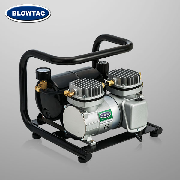 Double cylinders Mini Air Compressor with Tank and U-handle